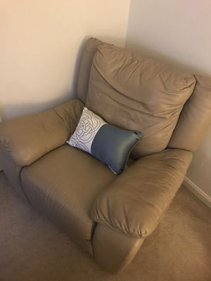 Leather Italsofa Recliner Chair for Sale in Rockville, MD