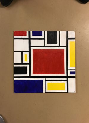 """""""Mondrian"""" style painting on plywood board for Sale in Columbus, OH"""