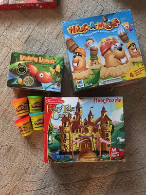 Games & Floor Puzzle, Melissa & Doug, Milton Bradley, Gamewright, Playdoh for Sale in Tacoma, WA