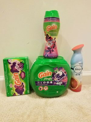 Gain laundry pods bundle- $20 not negotiable for Sale in Rockville, MD