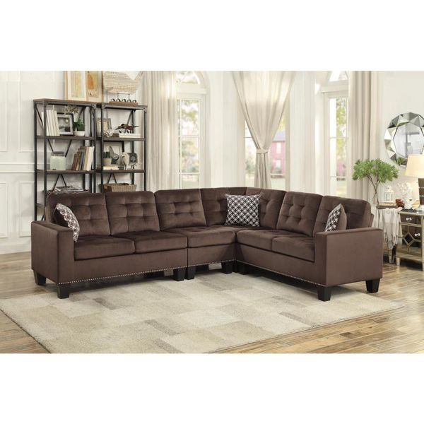 Chocolate Color L Shape Sectional Free Local Delivery For