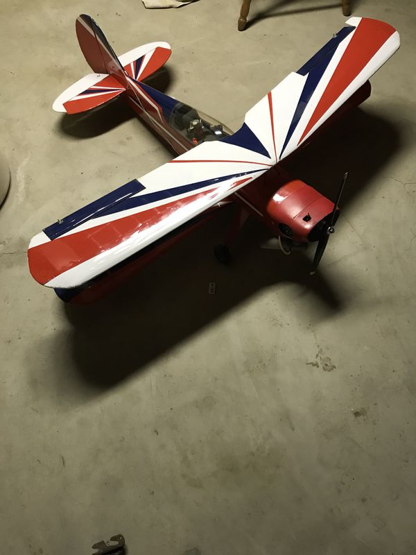 RC airplane-gas powered Bi plane  Stunt plane  for Sale in Windsor, NY -  OfferUp