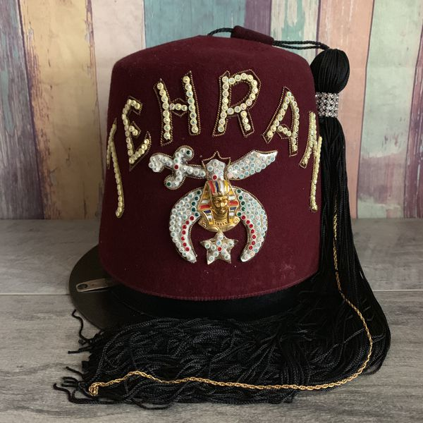 29c35b28a Vintage Masonic Shriners Cap Hat with Hard Case, Tehran for Sale in Fresno,  CA - OfferUp