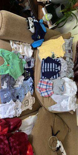 Carter, Gerber, and Cat & Jack Preemie/NB boys 19 item lot Thumbnail