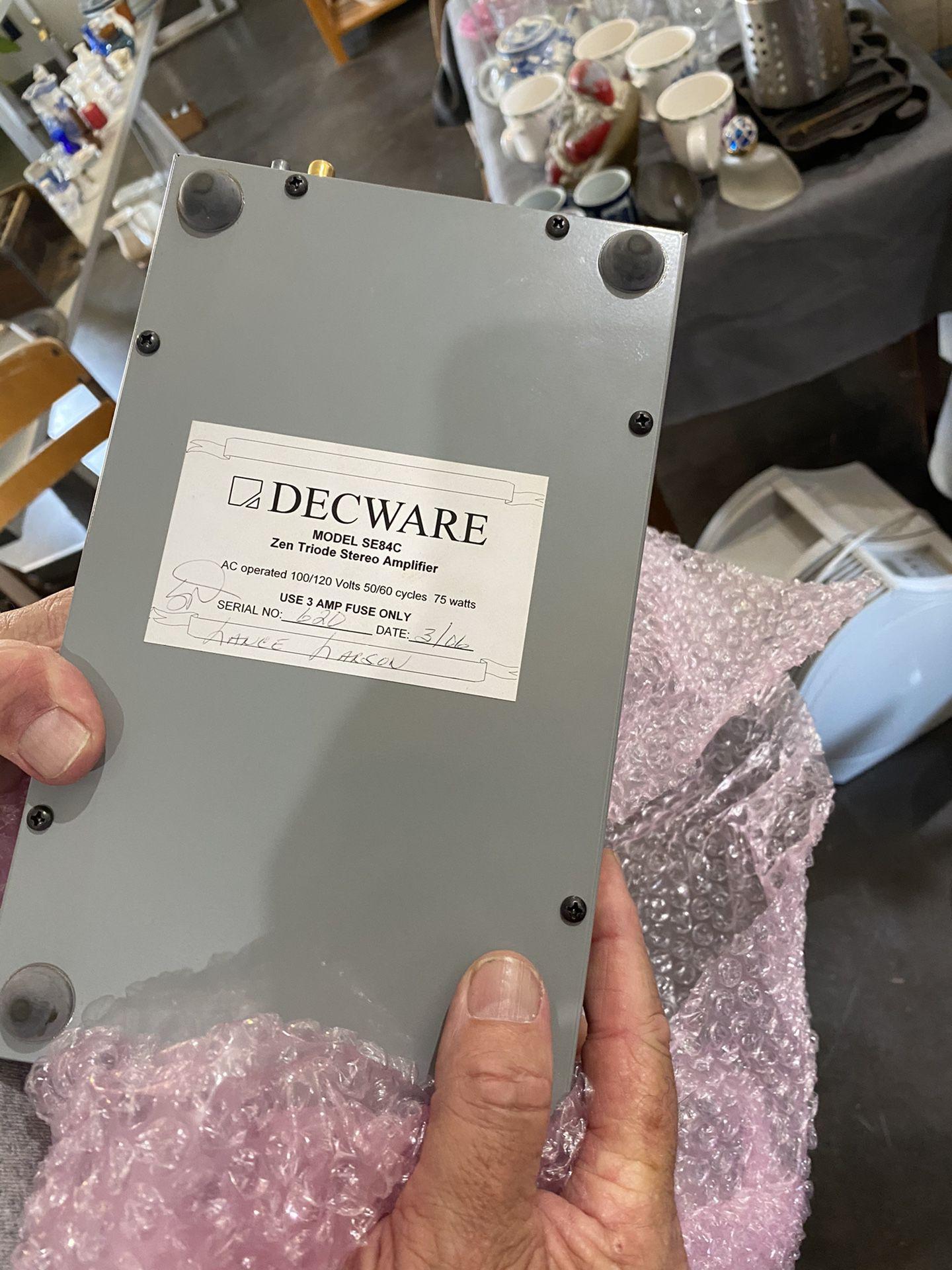 Decware Amplifier