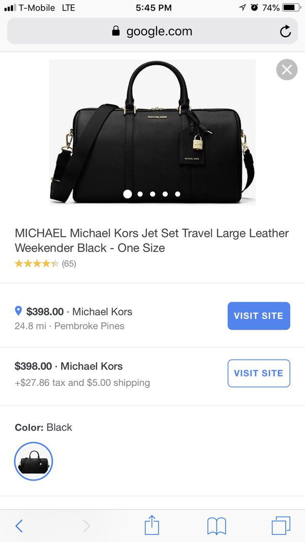 1d74448343e6 Michael Kors large black leather duffle bag for Sale in Boca Raton ...
