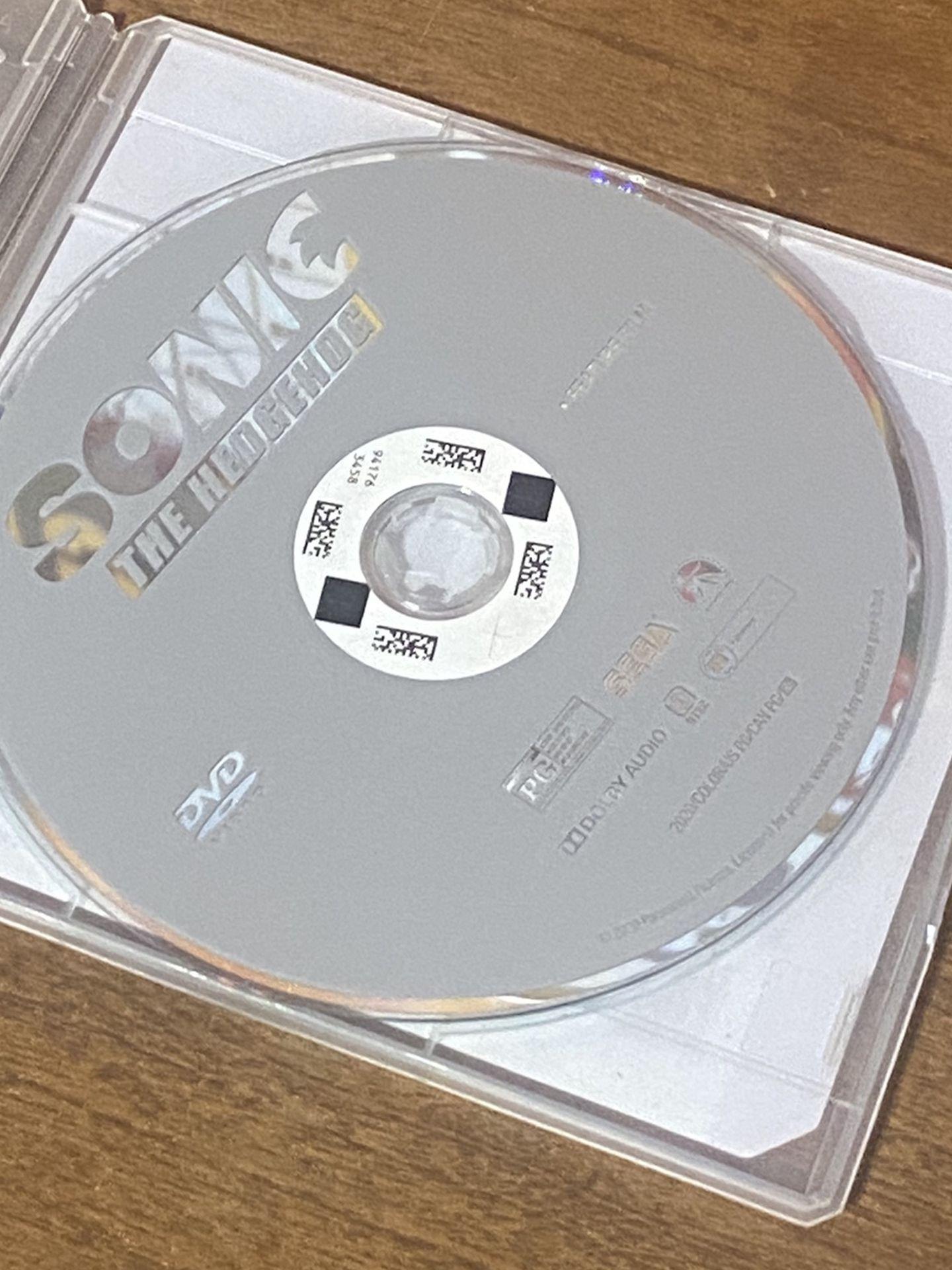 Sonic The Hedgehog DVD Blue Ray