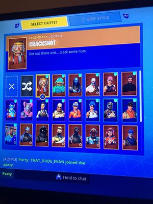 Fortnite account kinda trash but 25$ message me if want to buy for Sale in Monrovia, MD