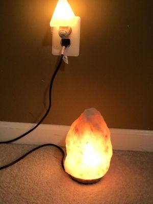 Himalayan Salt Lamp and salt night light for Sale in Leesburg, VA