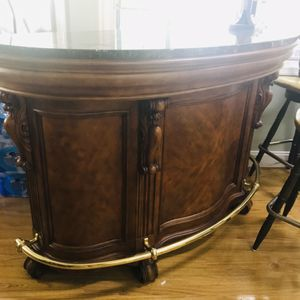 Solid Wood Bar Counter with Marble Top for Sale in Annandale, VA