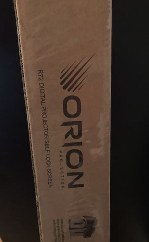 Orion R72 self locking projector screen for Sale in Baltimore, MD