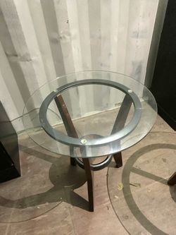 2 Glass Top End Tables Thumbnail