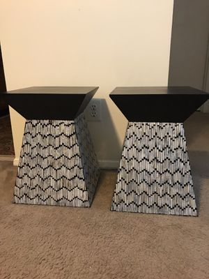 """Set of 2 stunning handcrafted mosaic tables 17"""" width x20"""" tall pm me if you interested Gaithersburg md 20877 for Sale in Gaithersburg, MD"""