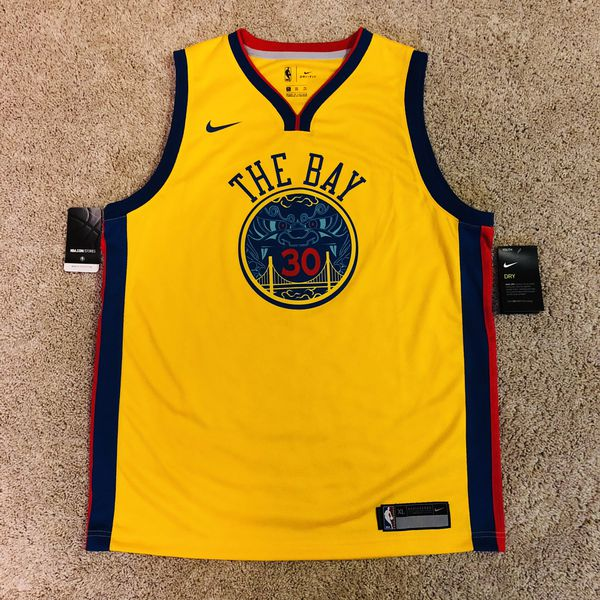 buy online 4426f abfaa Golden State Warriors Nike Chinese Heritage THE BAY Steph Curry Jersey  Youth XL for Sale in Pinole, CA - OfferUp
