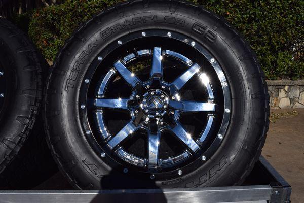 Fuel Wheels & Tires Dodge 3/4 Ton 8 Lug Full Set for Sale in Austin, TX -  OfferUp