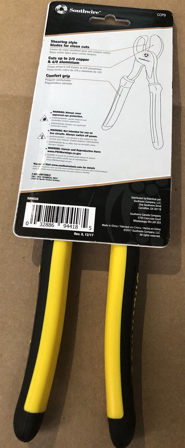 "Southwire 9"" cable cutter for Sale in Los Angeles, CA - OfferUp"