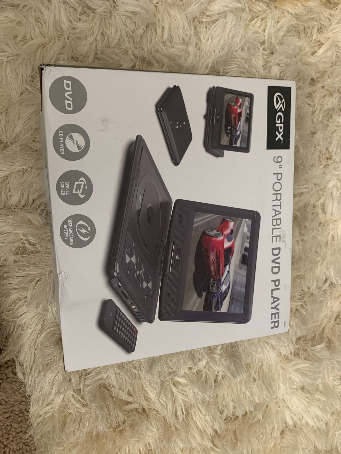 GPX 9 Portable DVD player