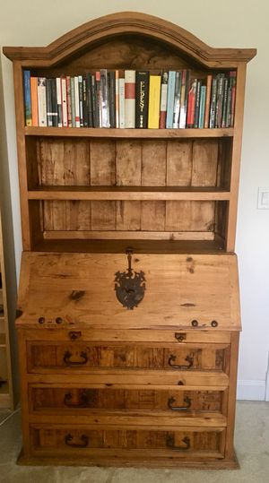Pinewood desk with bookshelves and drawers for Sale in Rockville, MD