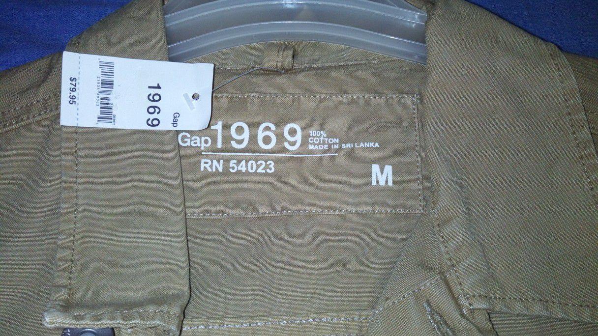 Gap Brown Kaki Jacket Men Medium Size - NEW (Never Used)