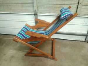 Wooden Rocking Sling Patio Chair Folds For In Oklahoma City Ok