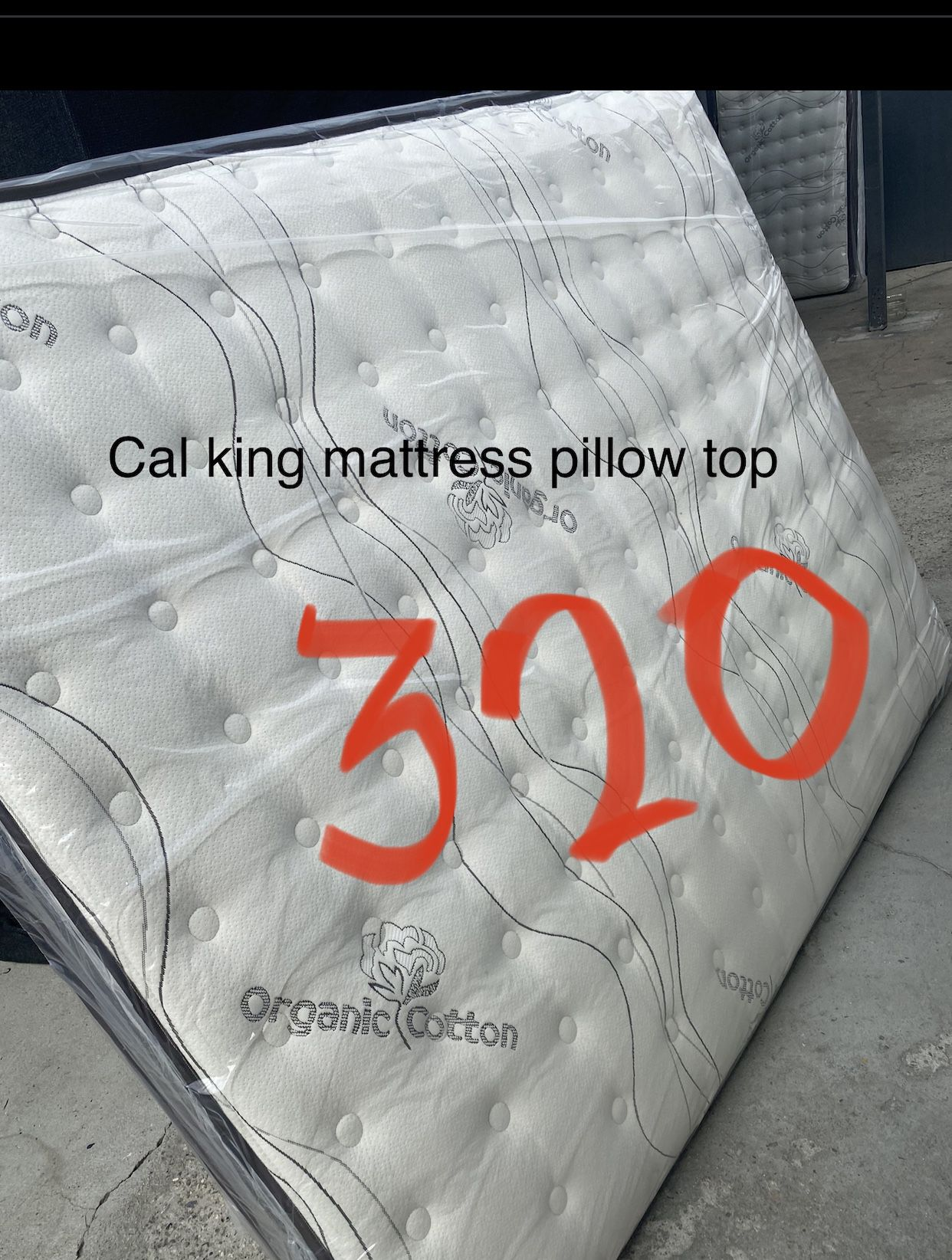 Cal King Size Mattress  Pillow Top