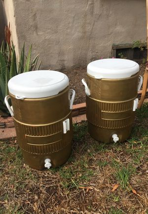 2 gold coolers for Sale in Santa Monica, CA