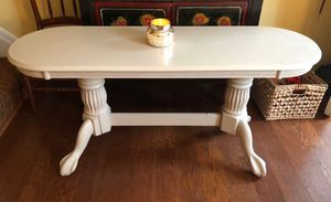 Heavy Wooden Oval Console Table for Sale in Crofton, MD