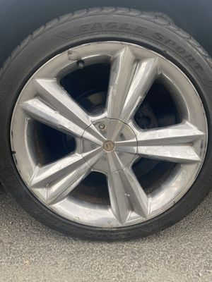 Photo 18 inch chrome 5x114.3 universal Rims new tires no cracks no bends $600