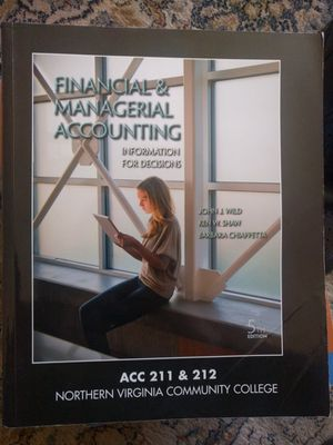 Financial and Managerial Accounting Textbook for Sale in Fairfax, VA