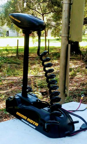 Minn Kota 50lb thrust Powerdrive trolling motor, comes with the foot control, for Sale in Sorrento, FL