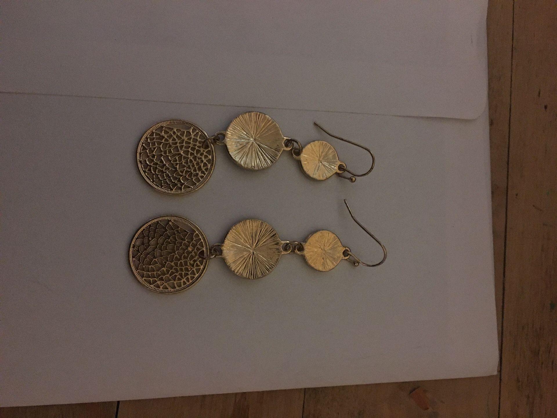 Faux gold earrings