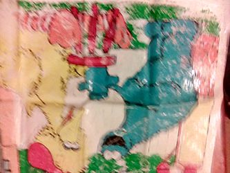 Old sesame Street wall posters something from like the 80s 70s really worn somewhat flexible on the price Thumbnail