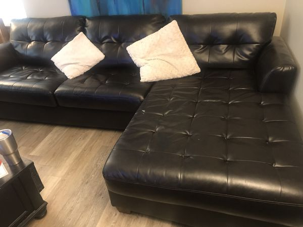 Nice dark brown leather sectional sofa for Sale in Arvada, CO - OfferUp
