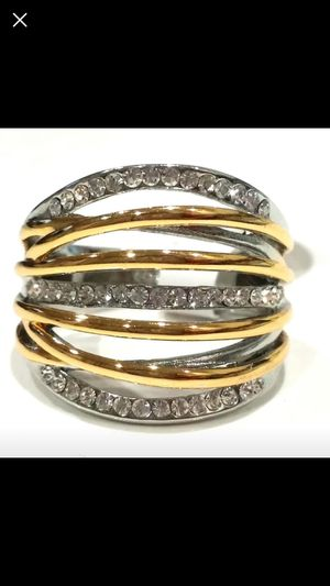 Gold Tone and silver wrap ring for Sale in Silver Spring, MD