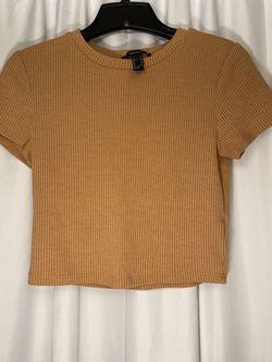 Peachy Short-Sleeved Crop Top Thumbnail