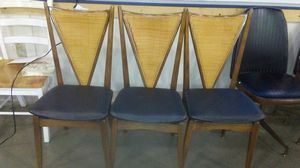 Stakmore 3 mid century chairs for Sale in Pittsburgh, PA