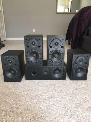 Polk Audio Bookshelf Speakers includes Center Speaker for Sale in Houston, TX