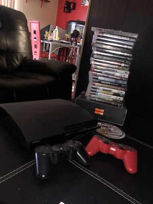PS3 w/ 2 controllers and 20+ games for Sale in Oxon Hill, MD