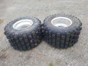 Photo TPA 18x10-8 Atv tires on aluminum wheels