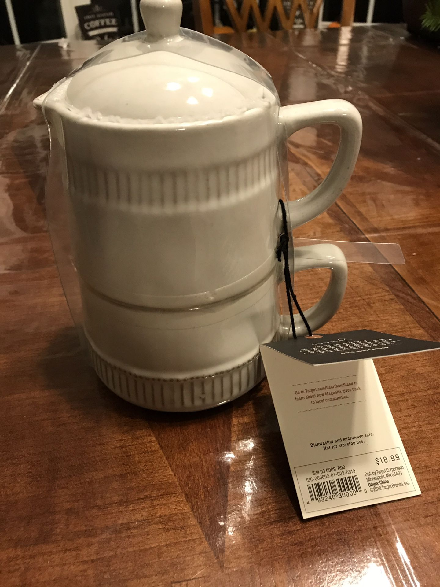 Brand new Hearth&Hand coffee mug double set