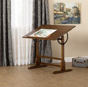 Photo Studio Designs Vintage Rustic Oak Top Adjustable Drafting Table