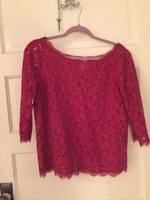 Lace pink top from Anthropology for Sale in Nashville, TN