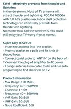 UHF/VHF/FM Amplified HDTV Outdoor TV Antenna for Sale in Bakersfield, CA -  OfferUp