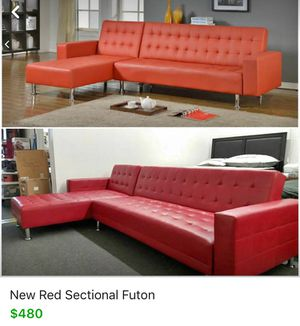 New Red Sectional Futon Free Delivery For In Austin Tx