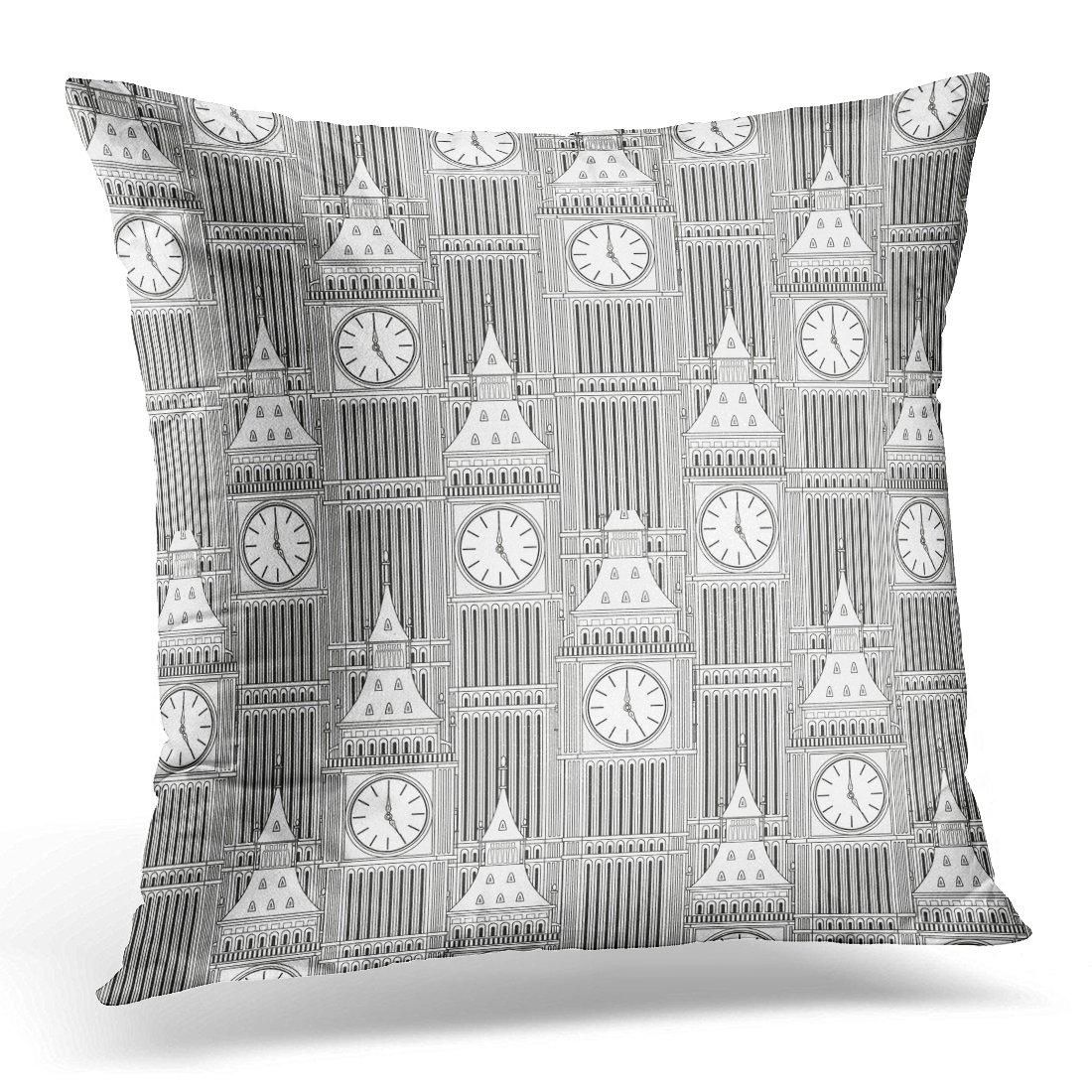 Colorful Abstract Sketch Big Ben Vintage Architecture Pillow Case Pillow Cover 20x20 inch