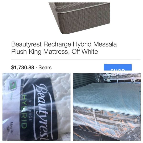 New King Beautyrest Recharge Hybrid Messala Plush Mattress Only For In Frisco Tx Offerup