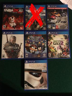 6 GREAT PS4 GAMES BUNDLE for Sale in Phoenix, AZ