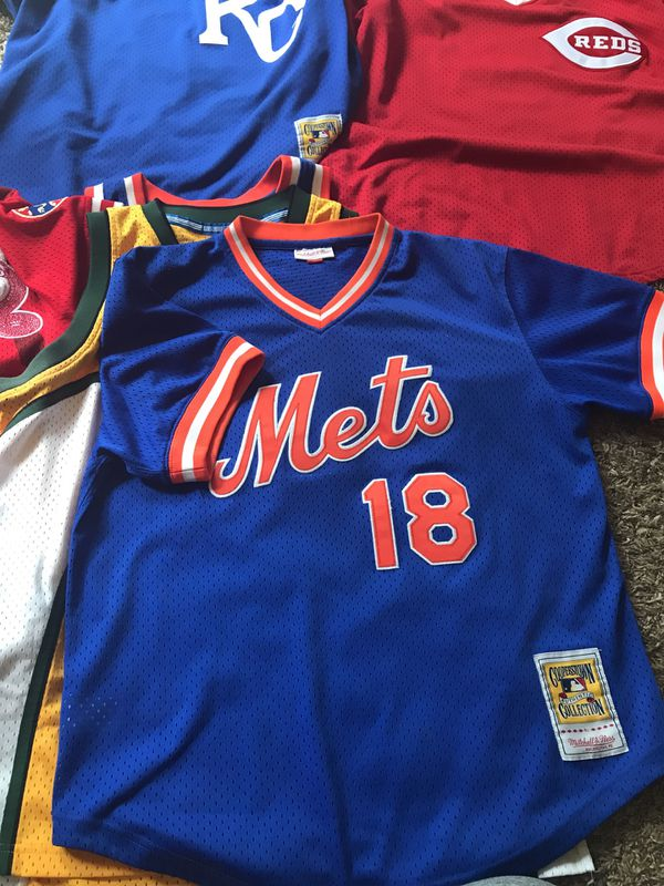 check out 491bd 5e280 PA Mets Baseball Jersey #18 for Sale in Reynoldsburg, OH - OfferUp