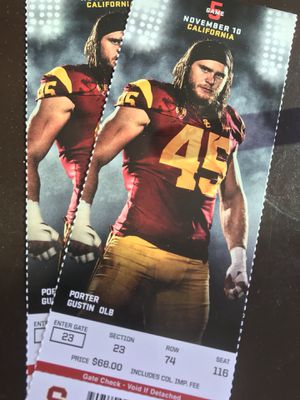 Usc tickets vs CAL for Sale in Los Angeles, CA