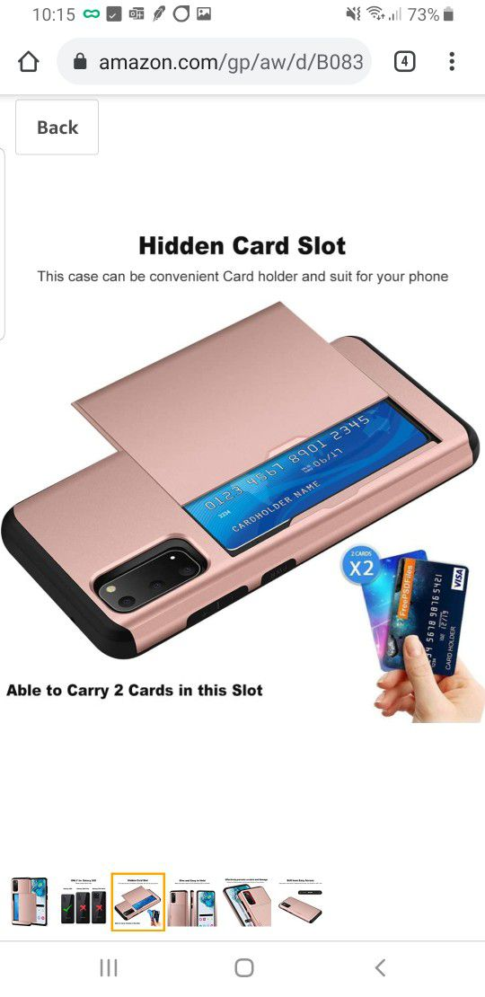 Samsung Galaxy S20 5G Case With Credit Card Holder